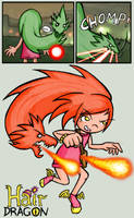HairDragon: Fire Mode by luckettx