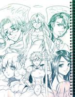 Generic RPG Cast Sketch by lucidsky