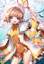 Card Captor Sakura with KEROBER by lucidsky