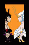 Devilman and Sirenu II by ShampooNeko