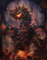 Lava Rock Dragon by CGlas