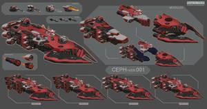 Space fleet -CEPH.001 by CGlas