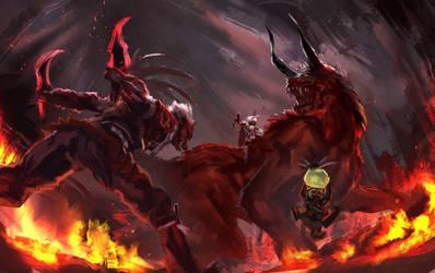 Monster huntet- Dagger VS Behemoth by CGlas