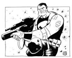 Punisher Con Sketch by ryancody