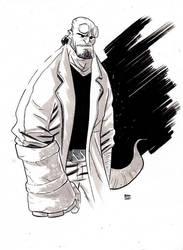 Hellboy Ink wash by ryancody