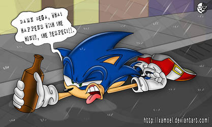 Sonic and the black days by XAMOEL