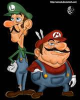 Toxic Mario and Luigi by XAMOEL