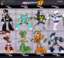Megaman 13_Robot masters by XAMOEL