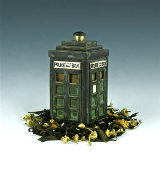 Tardis Tea Infuser Detail by Amazon-Butterfly