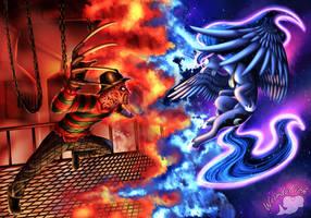 Freddy Vs Luna by WeirdoFish