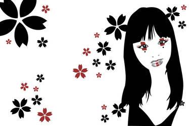 Geisha Vector by riaherod
