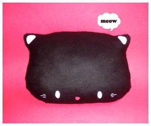 Kitty Plush Cushion by riaherod