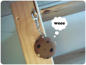 Cookie Plushie Keyring by riaherod