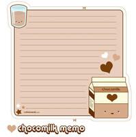 Chocomilk Memo Sheet by riaherod