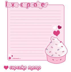 Cupcake Memo Sheet by riaherod