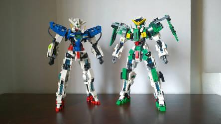LEGO Gundam Exia and Gundam Dynames by demon14082000