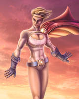 Power Girl paint by AdamWithers