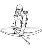 Green Arrow Torso Sketch by AdamWithers