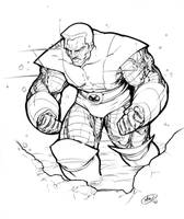 Colossus Sketch by AdamWithers