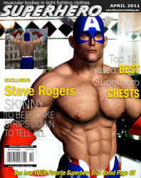 Superhero Muscle Mag April by GreysonFurrington