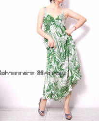 Sexy Green Chiffon Maxi Dress2 by yystudio