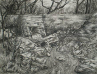 Charcoal Landscape by jeuneboy