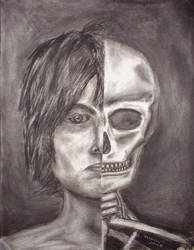 Self-Portrait Face, Skull by jeuneboy