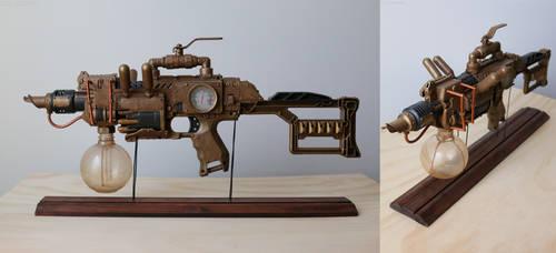 Steampunk Rifle / Flamethrower by Fosterartwork