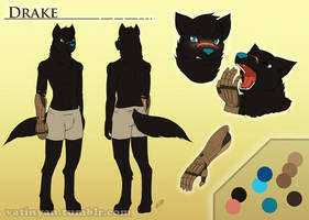Commission - Reference sheet Drake by Vatina