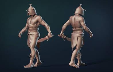 Gladiator clayrender by Valtsu