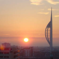 Sunset over Portsmouth Marc 05 by soon-ago
