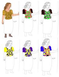Dress Design 487B VariantsDv3 by Tribble-Industries