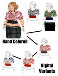 Dress Design 485 Digital Variants by Tribble-Industries
