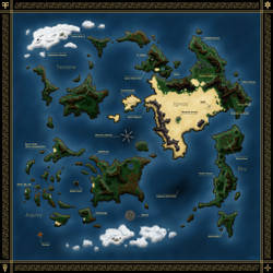 Xenogears World Map (Labeled) by Sub-Thermal