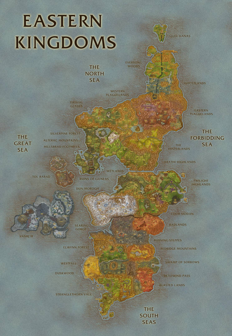Wow Eastern Kingdoms Map | www.topsimages.com