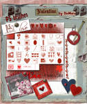Valentine Mega Art Brush Set by Diamara