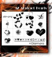 12 Abstract Hearts by Diamara