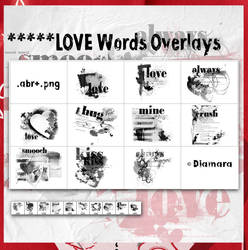 LoveWordsOverlays by Diamara