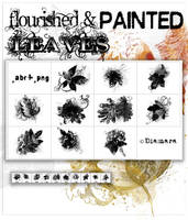 Flourished Painted Leaves by Diamara