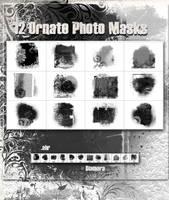 12 Ornate PhotoMasks by Diamara
