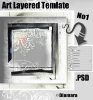 Art Layered Template No1 by Diamara