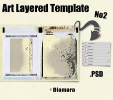 Art Layered Template No2 by Diamara