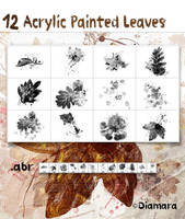 Acrylic Painted Leaves by Diamara
