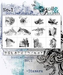 Scroll And Flourish ArtBrushSet by Diamara