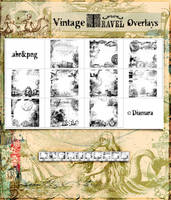 Vintage Travel Overlays by Diamara
