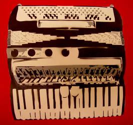 accordian stencil by louuu