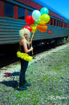 Britney and her Balloons by angelsfalldown1