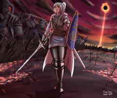 Commission: Dark souls O.C. Arturia by Charleian