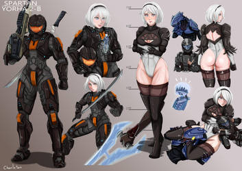 Nier x Halo by Charleian
