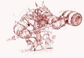 Minotaur warrior by VAMPDWARF